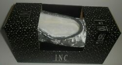 INC International Women#x27;s Silver Faux Fur BOW Slippers NIB Size XL 11 12 $9.99