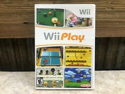 Wii Play Nintendo Wii Complete in Case w Manual Tested Free Ship $12.95