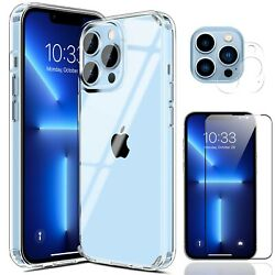 For iPhone 12 Pro Max Mini 5G Case Clear Slim CoverCamera Lens Screen Protector $11.99