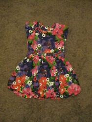 GYMBOREE Pre Owned Girls Size 6 Multi Colored Flowered Dress $3.99