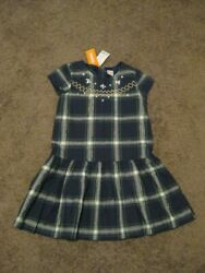 GYMBOREE NWT Girls Size 8 Navy Gold Studded Lined DRESS SALE $3.99
