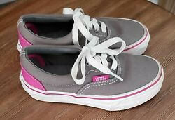 EUC Vans Off the Wall Girls Kids Youth Pink Grey Shoes Sneakers Size 10.5 $20.00