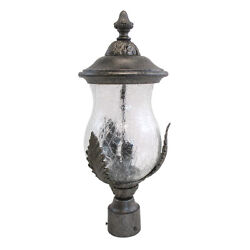 Feldspar And Clear Crackle Glass 4 Light Large Exterior Post Top Light $336