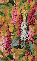 HALF YARD Westminster Kaffe Philip Jacobs Fox Gloves Antique 1st Edition $45.72