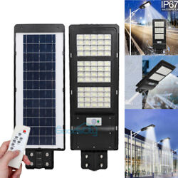 14000LM Commercial LED Solar Street Light Motion Sensor Dusk to Dawn Spotlight