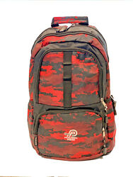 Pickleball Retreat Backpack Red Camo A Spacious Bag To Take To The Courts $24.99