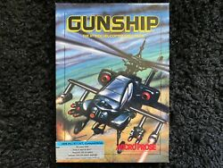 1986 Gunship The Attack Helicopter Simulator by Micro Prose IBM PC Floppy Disc $19.99