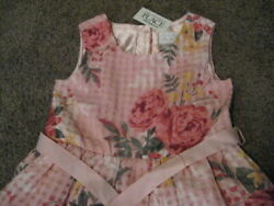 Children#x27;s Place NWT Girls Size 4 T Pink Flowered Church Holiday Dress $4.99