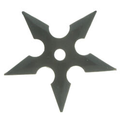 Black Rubber Soft Flexible Five Points Throwing Star for Training and Practice $8.54