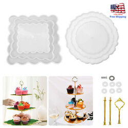 New 3 Tiers Fruit Dish Coaster Resin Casting Silicone Mold Stand Agate Epoxy DIY $14.99