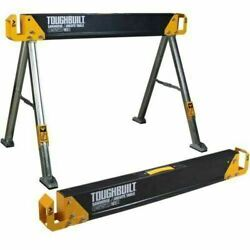 2 Pack Steel Sawhorse 42.4 in and Jobsite Pair Table 2200 lb Capacity TOUGHBUILT $84.99