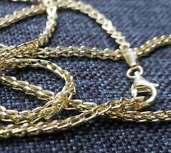 Mens Womens 10K Real Yellow Gold 1.5mm 2mm FRANCO Link Chain Necklace 16quot; 30quot; $124.99