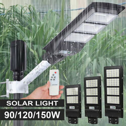 Commercial LED Solar Street Light 90000LM IP67 Sensor Dusk to DawnRemotePole