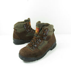 Vtg Technica Womens Sz 5.5 Brown Suede Leather Trekking Hiking Boots Waterproof $39.99
