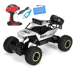 Electric RC Cars 4WD Monster Truck Off Road Vehicle Remote Control Crawler Black $43.69