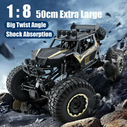 1 8 4WD RC Car Monster Truck Off Road Vehicle Remote Control Buggy Crawler Gifts $62.39