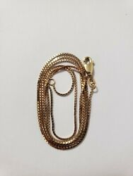 10k Solid Gold Box Chain Necklace 24in $155.00