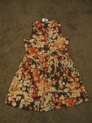 GAP NWT Girls Size 14 16 Fall Colors Floral Lined Dress Church Holidays $4.99