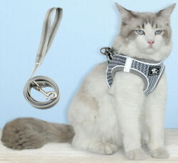breathable mesh reflective Cat Harness and leash $13.00