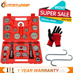 Set 27pcs Universal Disc Brake Caliper Piston Wind Rewind Tool Hooks Gloves Case $23.88