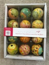 The Land Of Nod 12 Days Of Christmas Hand Painted Ornaments Set of 12 $14.99