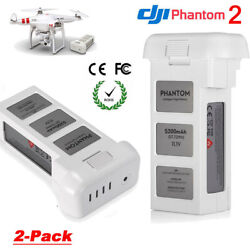 Qty 2 Battery For DJI Phantom 2 Vision Plus Drone Quadcopter Flight 5200mAh $106.99