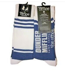 New THE OFFICE Mens Novelty Socks DUNDER MIFFLIN PAPER COMPANY OSFM $5.99