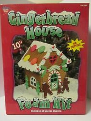 Lot of 2 Gingerbread House Foam Kits 10quot; By Nicole Christmas Craft $19.99