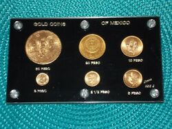Mexico Gold Coins Pesos. Please Read. $6499.00