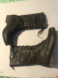 BAMBOO 01N Womens Boots Size 6 Brown Man Made Material Very Good Preowned $6.00