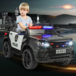 12V Kids Electric Police Car Ride On Car SUV Truck Toys with Remote Control Horn $159.99