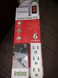 Westinghouse 6 Outlet 3ft Indoor Power Strip White $4.99