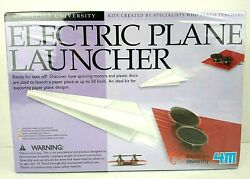 4M Electric Plane Launcher Kit Fun Mechanics Paper Airplanes New Sealed In Box $10.95