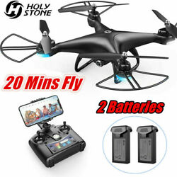 Holy Stone HS110D FPV RC Drones with 1080P WiFi HD Camera Quadcopter 2 battery $57.94