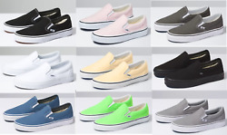 Vans CLASSIC SLIP ON Canvas Sneaker Shoes All Size NEW IN BOX FAST SHIPPING $56.95