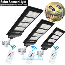 990000LM Dusk to Dawn Solar Street Light LED Commercial IP67 SensorRemotePole