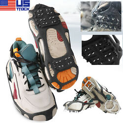 Ice Snow Anti Slip Spikes Grips Grippers Crampon Cleats For Shoes Boot Overshoe $13.95