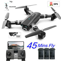 2.4Ghz GPS Drone with 1080P HD WIFI Camera Foldable Selfie RC Quadcopter FPV US $89.99