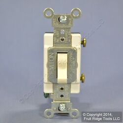 Leviton Light Almond COMMERCIAL Toggle Wall Light Switch 20A 120 277V CS120 2T