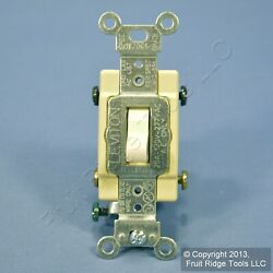 New Leviton Light Almond 4 Way COMMERCIAL Toggle Wall Light Switch 20A CS420 2T