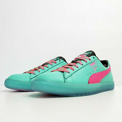 Puma Clyde South Beach Miami Palm Tree Teal Green Pink Sneaker Men#x27;s Size 10.5 $75.00