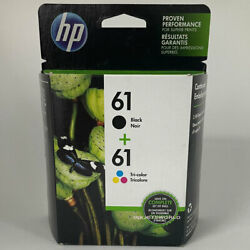 HP #61 2pack Combo Ink Cartridges 61 Black and Color NEW GENUINE $32.90