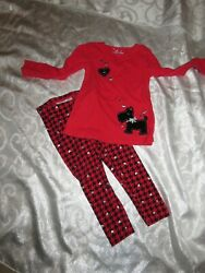 JUMPING BEANS 2 Piece Red Black Outfit Size 4T $5.00