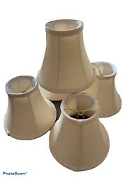 Fabric Shades For Chandlier 5 Inches Height Set Of 4 Beige $24.00