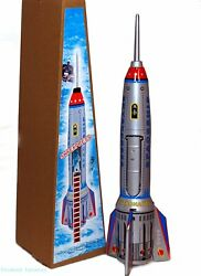 Rocket Spaceship quot;Skyexpressquot; Tin Toy Spring Activated Large 15quot; MS378 $15.00