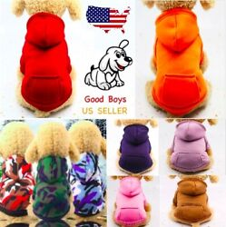 Dog Hoodie Sweater Fleece Long Sleeve Warm Winter Clothes For Dogs BUY 3 GET 1 $5.99