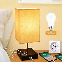 Dimmable 3 Way Touch Control Bedside Lamp Modern Table Lamp with USB Charging P $45.93