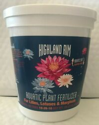 Highland Rim Aquatic Plant Fertilizer For Water Lilies Lotuses and Marginals $39.99