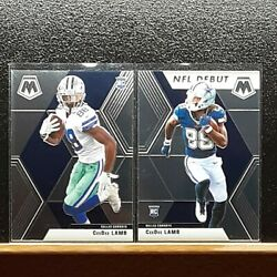 2020 Panini Mosaic Football CeeDee Lamb RC And NFLD $12.50
