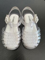 Mini Melissa Mini Possession II Clear Sandals Toddler Size 7 $18.00